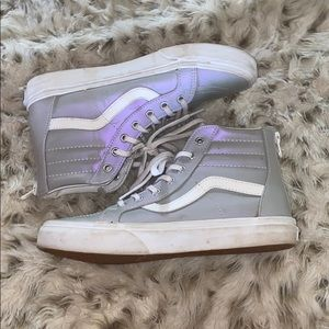 Vans skate high high top girls holographic shoes!